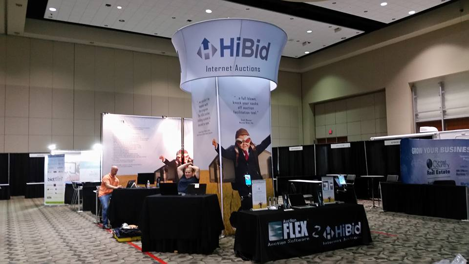 Auction Flex HiBid booth